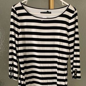 NWT White House Black Market Striped Top M